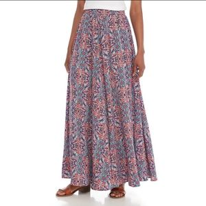 Cupio MULTICOLOR Printed MAXI Skirt